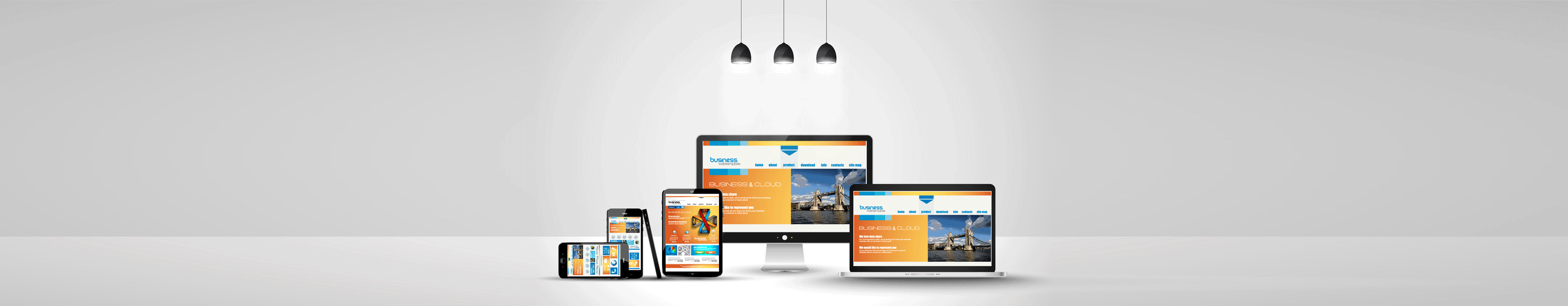 Simple, Clean and Responsive Design.  One website for all devices. Web, CMS and E-commerce